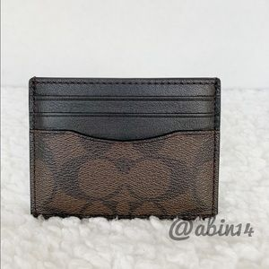 NWT Coach Signature ID Card Case